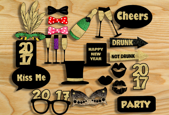 free-printable-new-year-2017-photo-booth-props