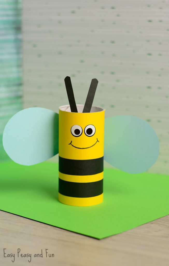 Cute-Toilet-Paper-Roll-Bee-Craft-for-Kids