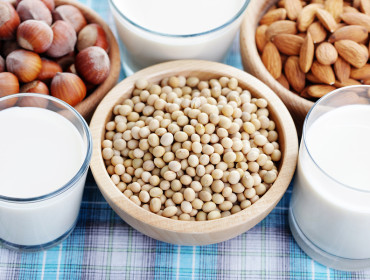 different vegan milk - food and drink