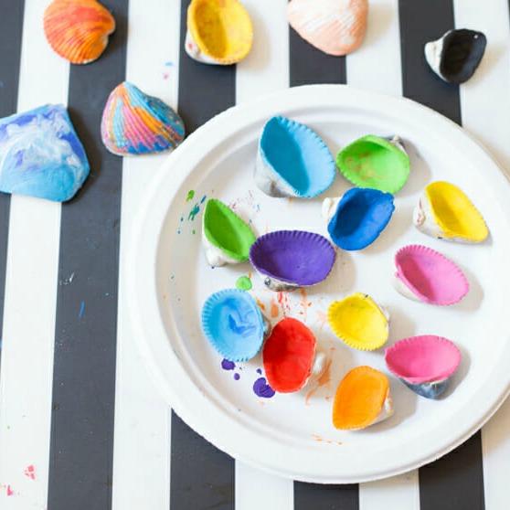 sea shells painted