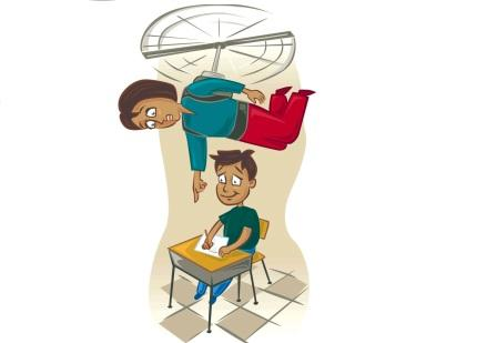 300 dpi John Alvin color illustration of parent hovering like a helicopter over child at school desk. Ran with story about parents who are overly involved in their children's education may actually be setting them up for failure in college. The Fresno Bee 2007KEYWORDS: hovering parent illustration overbearing overinvolved hyperparenting school child children homework helicopter parenting, 05008000, 05010001, krtteacher teacher, learning, pupil, student, teaching, upbringing, 05000000, EDU, krteducation education, 2007, krt2007, krtnational national, krt, mctillustration, fr contributed alvin fr contributor coddington mct mct2007 2007